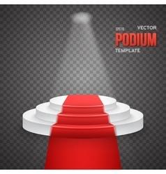 Photorealistic Winner Podium Stage vector image vector image