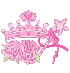 Princess crown vector image vector image