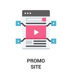 Promo site icon concept vector