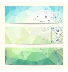 Set of templates for design of banners vector image vector image