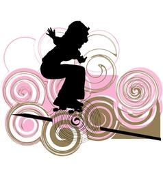 Skater girl vector