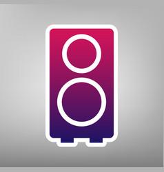 speaker sign purple gradient vector image vector image