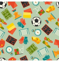 Sports seamless pattern with soccer football icons vector