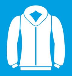 sweatshirt icon white vector image vector image