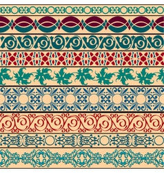 vintage borders for design vector image