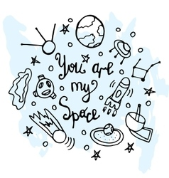 Youre my sign lettering liner vector