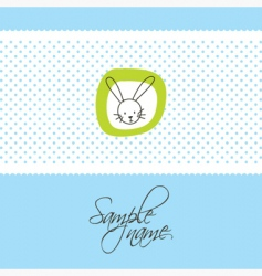 Cute card with bunny vector
