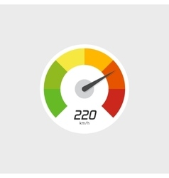 Speedometer icon isolated with speed vector image