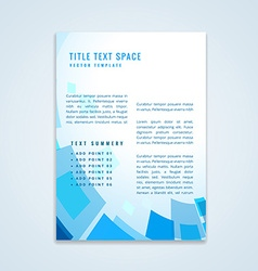 Brochure design with geometric shapes vector