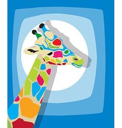 Funky giraffe vector image