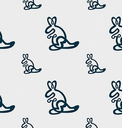 Kangaroo Icon sign Seamless pattern with geometric vector image