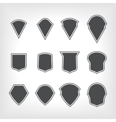 emblem heraldic shields in the frame vector image