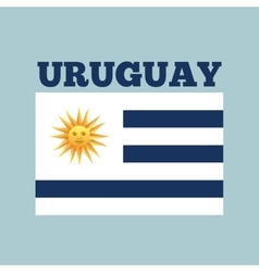 uruguay country flag vector image