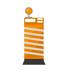 Barrier block construction light alert vector