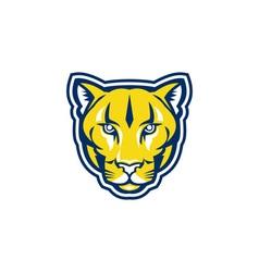 Cougar Mountain Lion Head Retro vector image