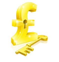 Pound key lock concept vector