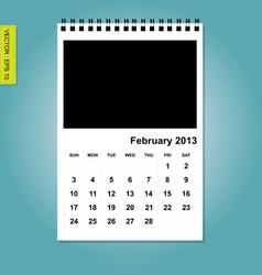February 2013 calendaro vector image