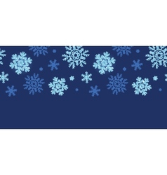 Glitter snowflakes dark horizontal border seamless vector
