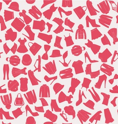 Seamless pattern of collection Fashion obje vector image