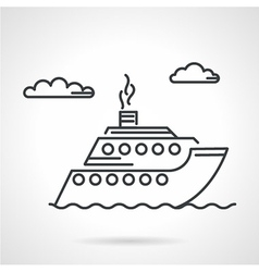 Cruise liner black icon vector
