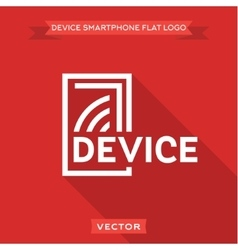 Smartphone flat circuit device logo icon vector
