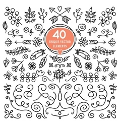 Eight versatile wreaths ornament for decorating vector