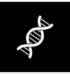 The dna icon genetics and medicine molecule vector