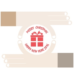 Hands and gift icon vector