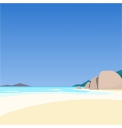Beautiful seascape vector