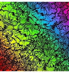 Rainbow colored doodle style ornament vector