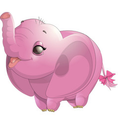 Beautiful cute elephant vector