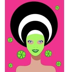 Beautiful woman Spa Facial Mask vector image