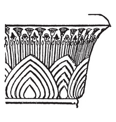 Bell capital with papyrus wide vector