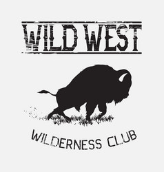 buffalo wild west vector image