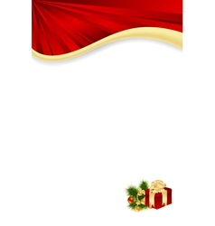 celebratory christmas card vector image vector image