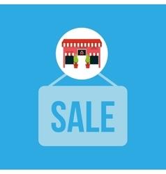 Cute store shopping sale design vector