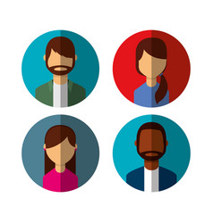 Group person avatars characters vector