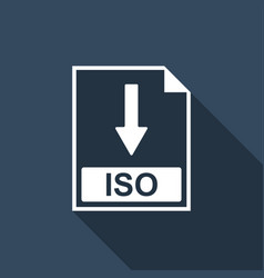 Iso file document icon download iso button icon vector