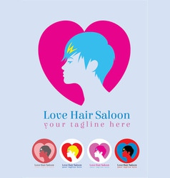 Love saloon logo vector