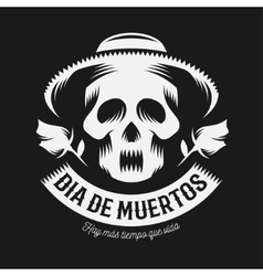 Mexican day of the dead monochrome vector image vector image