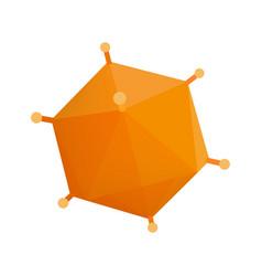 Orange virus isometric 3d icon vector