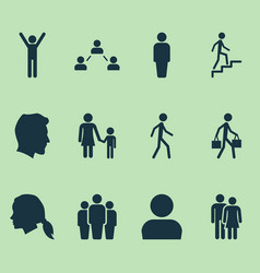 Person icons set collection of beloveds family vector