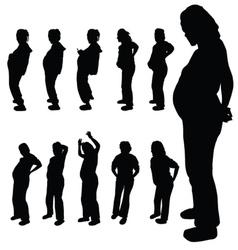 Pregnancy woman silhouette vector