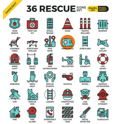 Rescue concept icons vector