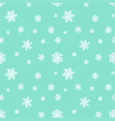 Seamless background template with snowflakes on vector