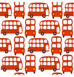 Seamless pattern with london red bus vector