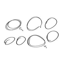 set of frames sketch doodle calligraphy vector image vector image