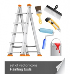 Set painter tools vector