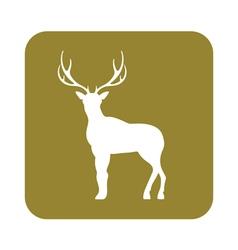 Silhouette of the deer flat deer icon vector
