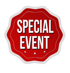 special event label or sticker vector image